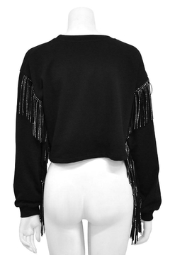 Gracia Fringed Crop Sweater - Alternate List Image
