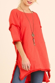 Umgee USA Fringed Hem Tunic - Product Mini Image
