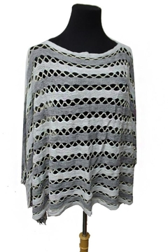 Cap Zone Fringed Knit Blouse - Product List Image