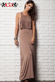 People Outfitter Fringed Maxi Dress - Product Mini Image