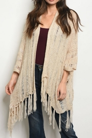 O & O Fringed Open Cardigan - Product Mini Image
