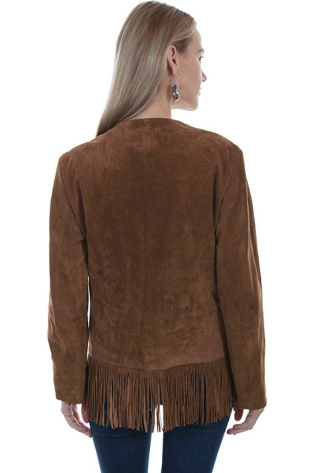 Scully Fringed Suede Jacket - Front Full Image