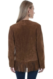 Scully Fringed Suede Jacket - Front full body