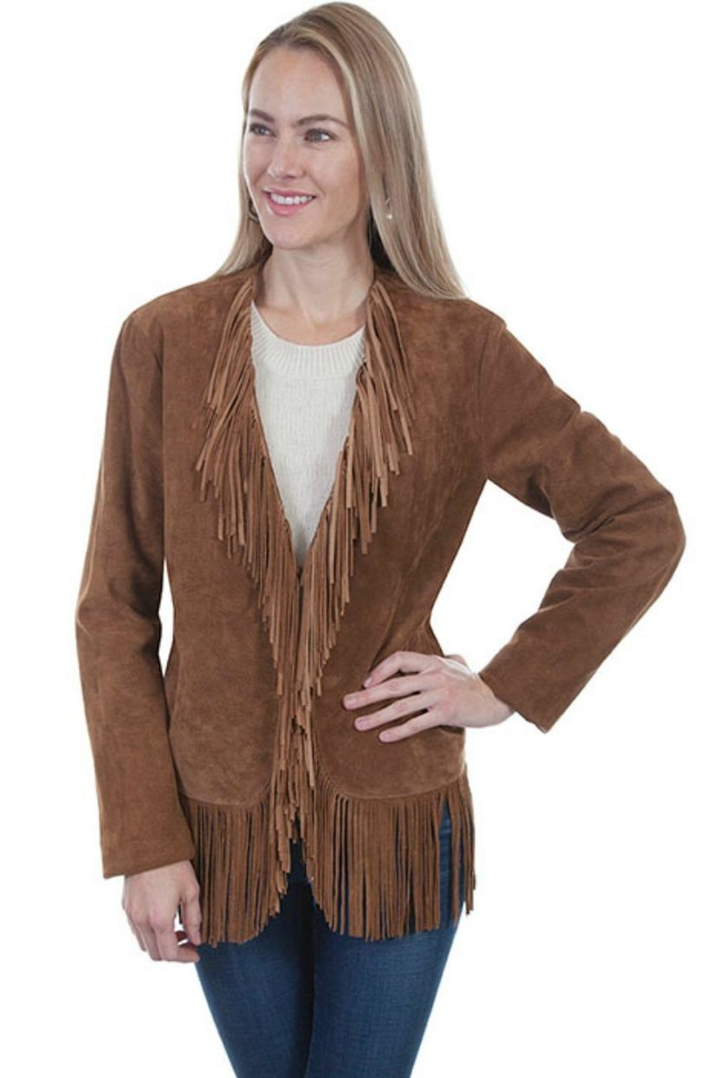 Scully Fringed Suede Jacket - Front Cropped Image