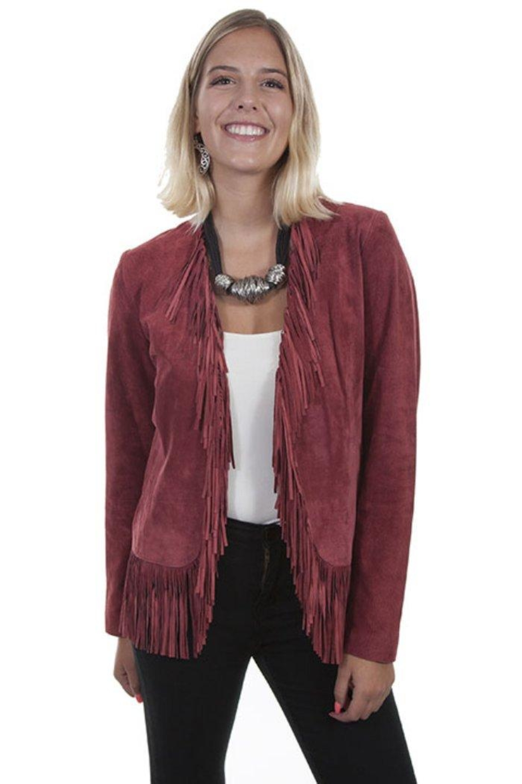 Scully Fringed Suede Jacket - Main Image