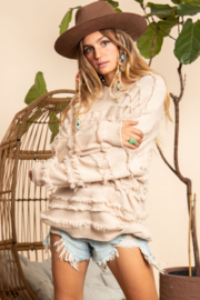 Blue Buttercup Fringed Sweater - Product Mini Image