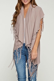 Lovestitch Fringed Sweater Vest - Product Mini Image