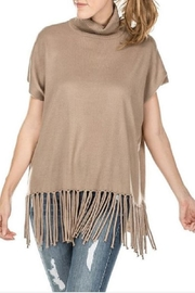 JoyJoy Fringed Turtleneck Sweater - Product Mini Image
