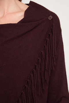 LuLu's Boutique Fringed Wrap Cardigan - Alternate List Image