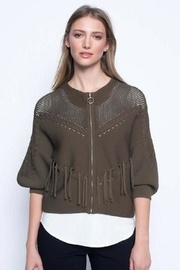 Picadilly Fringed Zip-Front Jacket - Product Mini Image