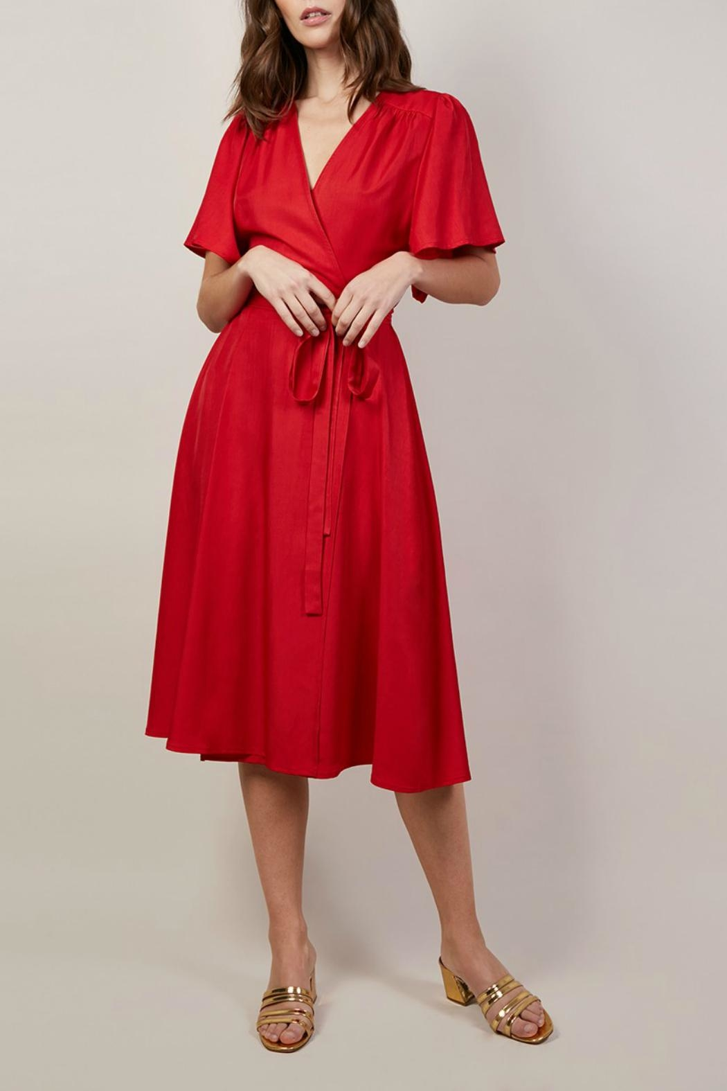 FRNCH Aesa Wrap Dress - Front Cropped Image