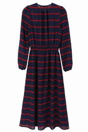 FRNCH Amaryllis Striped Dress - Back cropped