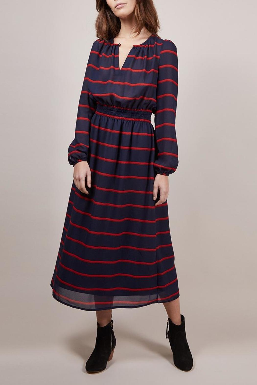 FRNCH Amaryllis Striped Dress - Front Cropped Image