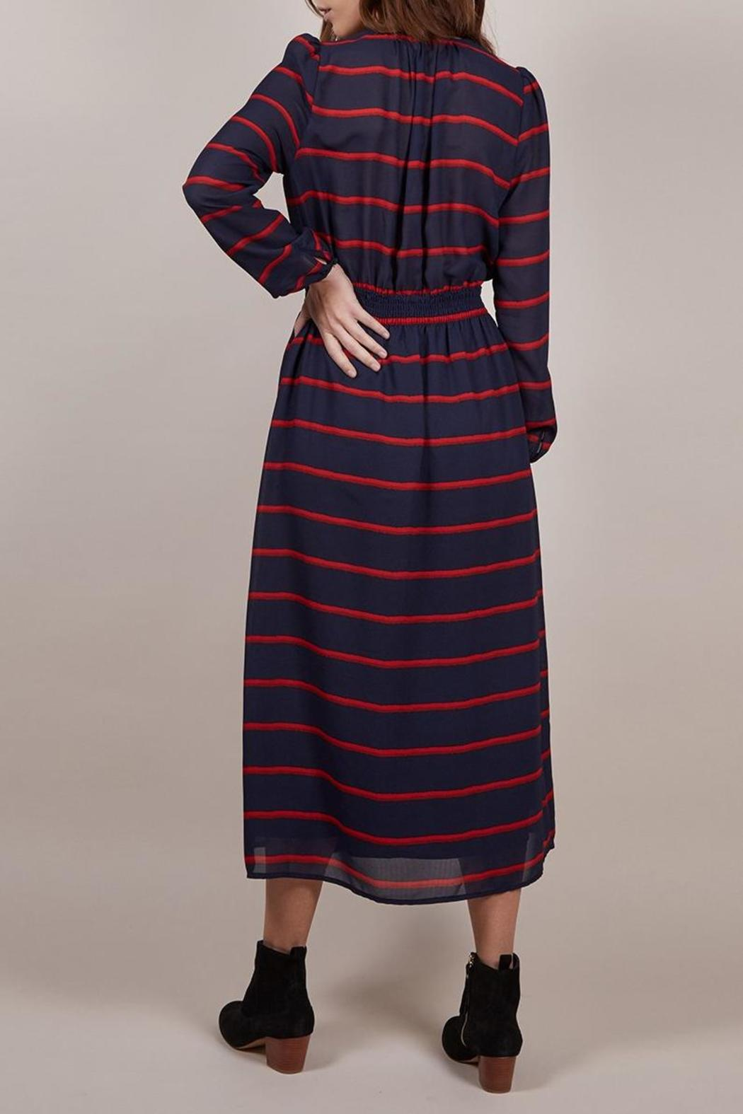 FRNCH Amaryllis Striped Dress - Front Full Image
