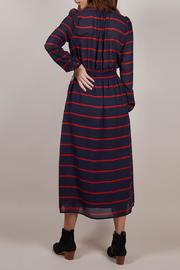 FRNCH Amaryllis Striped Dress - Front full body