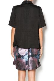 FRNCH Black Collared Top - Back cropped