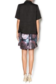 FRNCH Black Collared Top - Side cropped