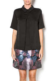 FRNCH Black Collared Top - Product Mini Image