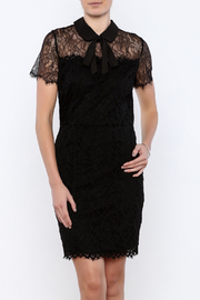 FRNCH Black Lace Dress - Front cropped