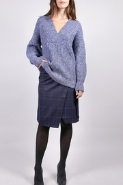 FRNCH Blue V-Neck Sweater - Front cropped