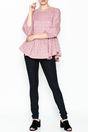FRNCH Check Peplum Blouse - Side cropped