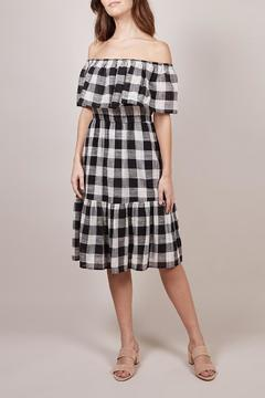 FRNCH Checkered Adelaine Dress - Product List Image