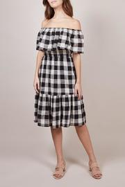 FRNCH Checkered Adelaine Dress - Product Mini Image