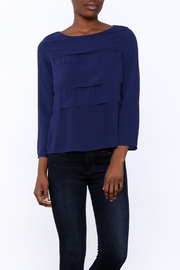 FRNCH Cobalt Tiered Top - Front cropped