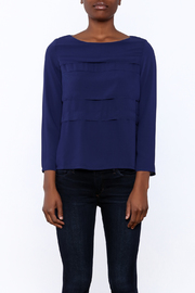 FRNCH Cobalt Tiered Top - Side cropped