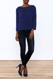 FRNCH Cobalt Tiered Top - Front full body