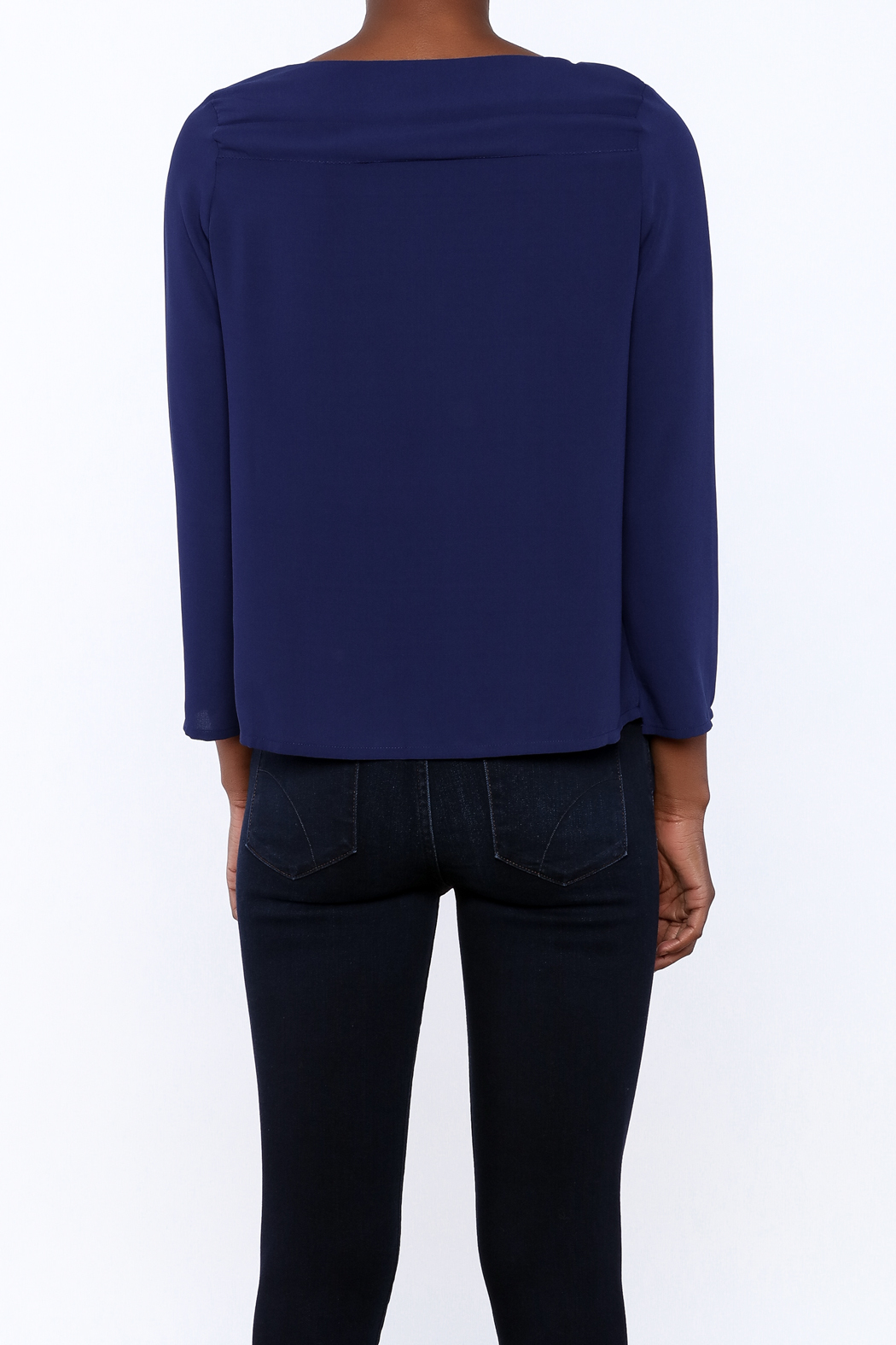 FRNCH Cobalt Tiered Top - Back Cropped Image