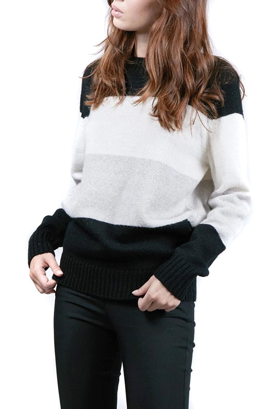 FRNCH Colorblock Noee Sweater - Main Image