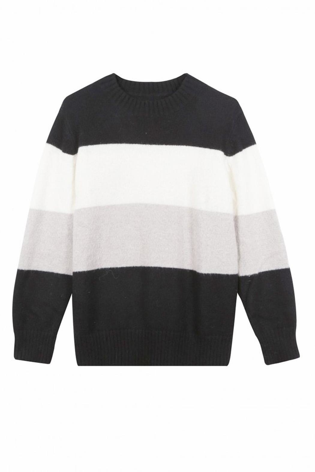 FRNCH Colorblock Noee Sweater - Side Cropped Image