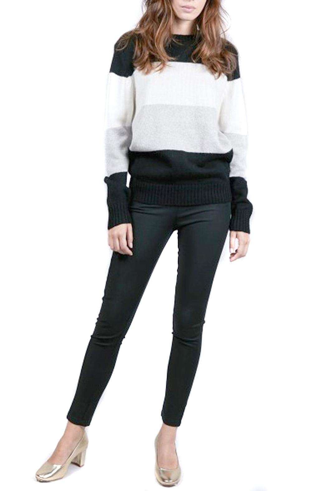 FRNCH Colorblock Noee Sweater - Front Full Image
