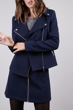 FRNCH Cropped Moto Jacket - Product List Image