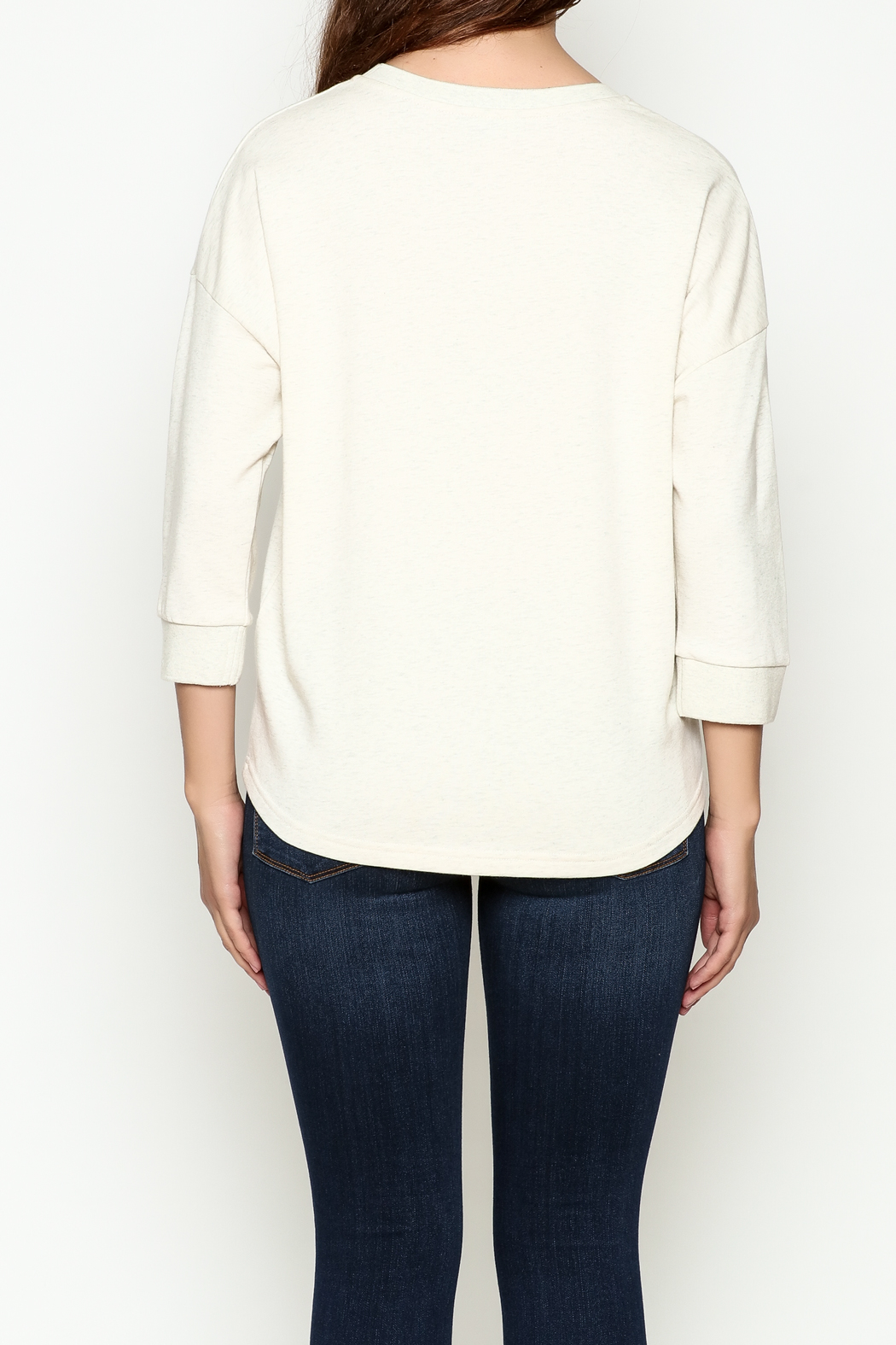 FRNCH Embroidered Sweatshirt - Back Cropped Image