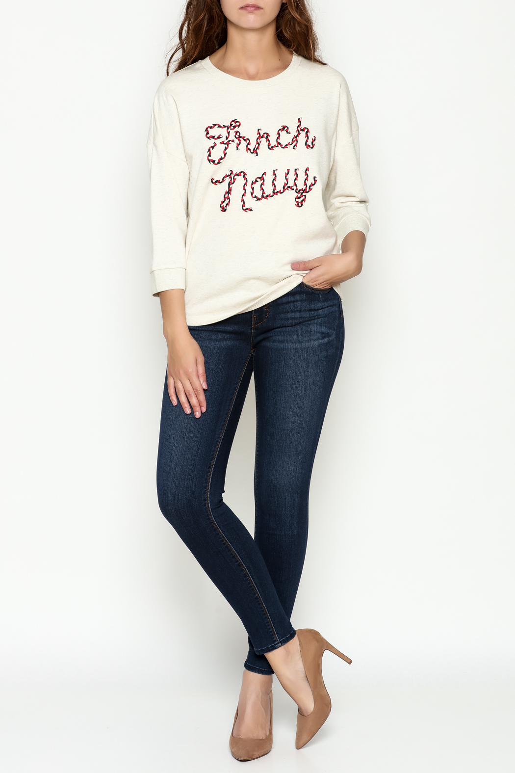 FRNCH Embroidered Sweatshirt - Side Cropped Image