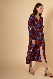 FRNCH Fall Floral Dress - Back cropped