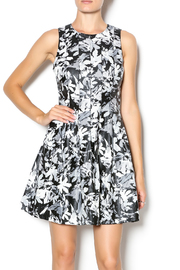 FRNCH Floral Pleather Dress - Product Mini Image