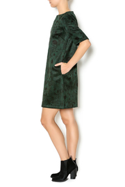 FRNCH Floral Suede Dress - Front full body