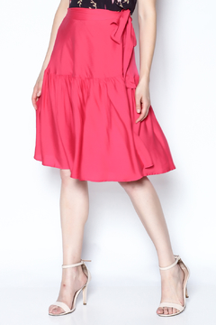 Shoptiques Product: Fuschia Wrap Skirt
