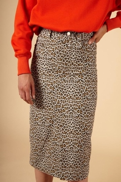 FRNCH Leopard Print Skirt - Product List Image