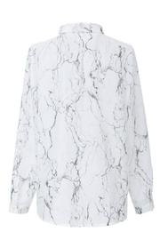 FRNCH Marble Print Shirt - Front full body