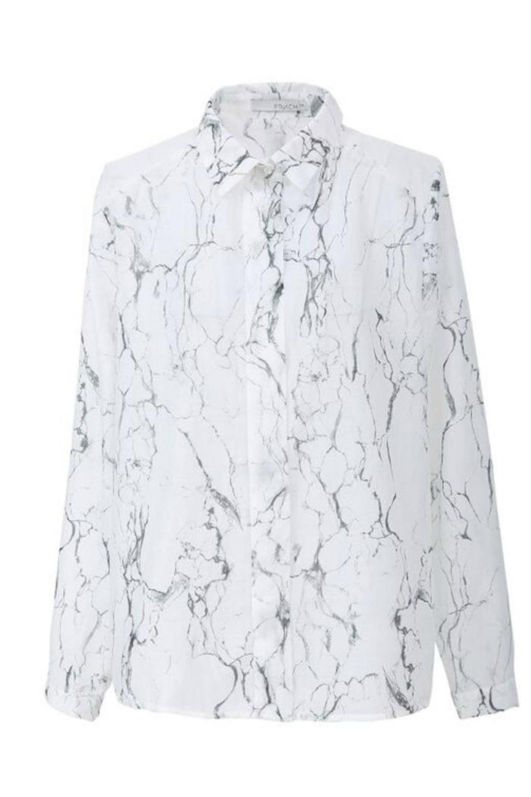 FRNCH Marble Print Shirt - Front Cropped Image
