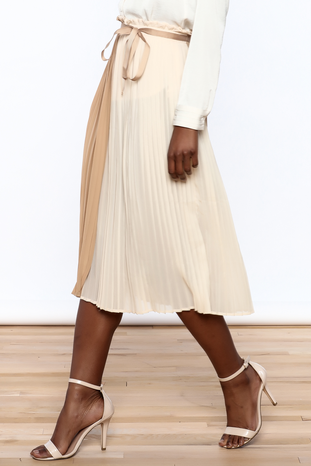 FRNCH Neutral Wrap Skirt - Main Image