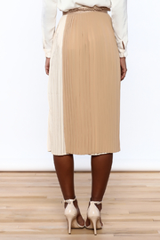 FRNCH Neutral Wrap Skirt - Back cropped