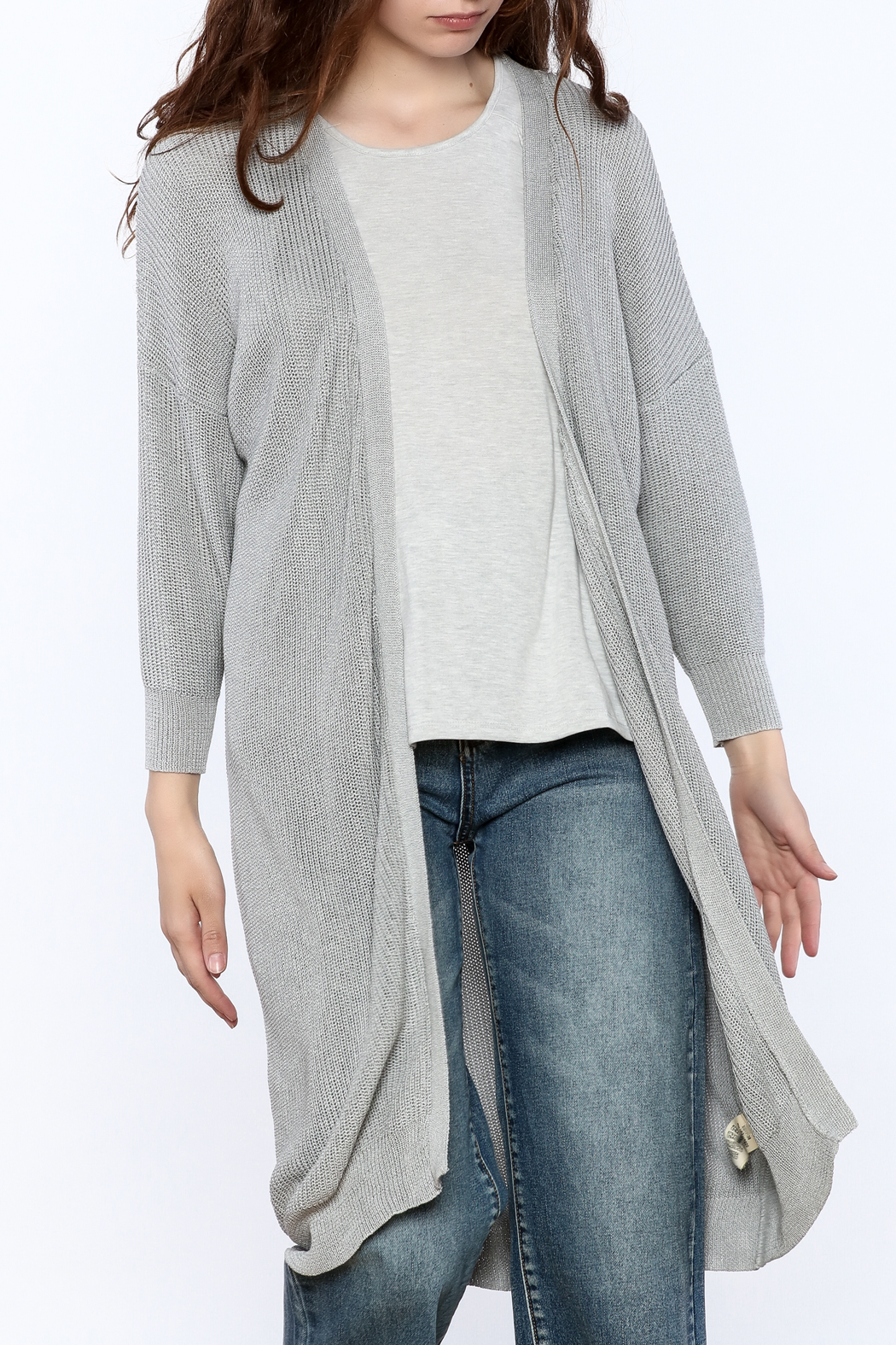 FRNCH Lightweight Grey Cardigan from Hudson Valley by The Editor ...
