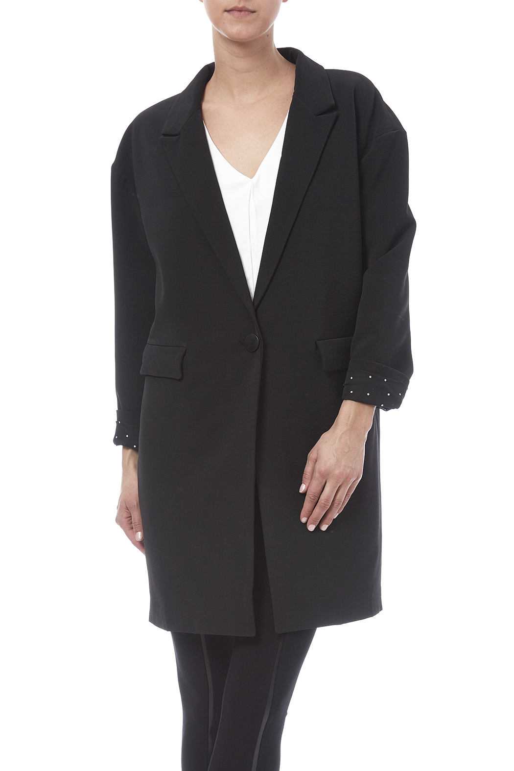 frnch oversized blazer from vermont by raw honey apparel shoptiques. Black Bedroom Furniture Sets. Home Design Ideas