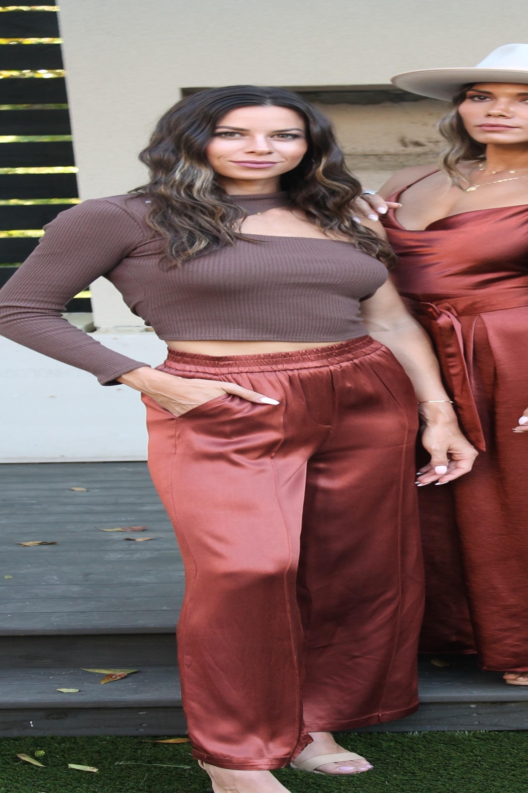 FRNCH Palmina Silky Pants - Side Cropped Image