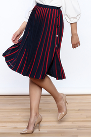 FRNCH Paris Pleated A-Line Skirt - Product Mini Image
